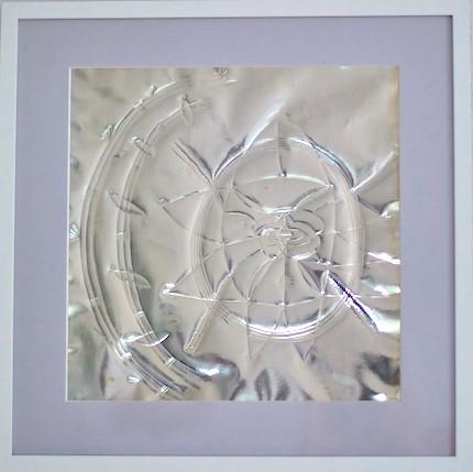 Sudarshana Yantra Kraftobjekt auf Silber