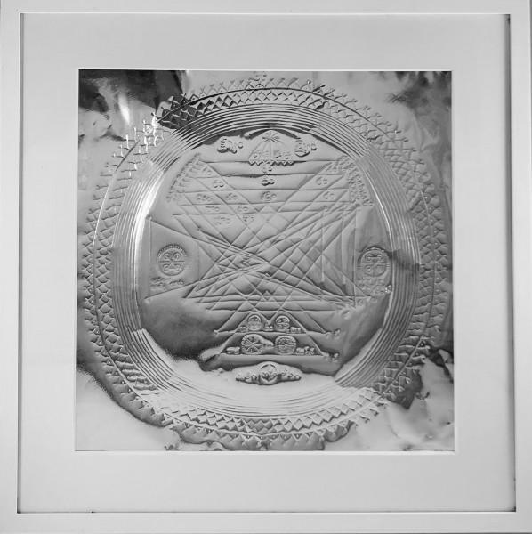 Jesus Christus Yantra Kraftobjekt auf Silber