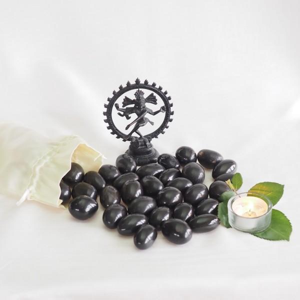 Schwarzer Shiva Lingam aus Onyx