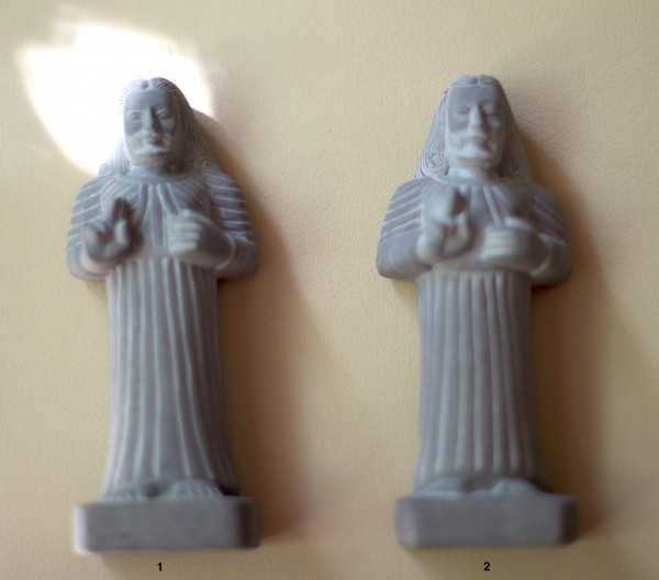 Jesus Statue aus Kadapa Stein